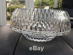12 QUALITY HEAVY Centrepiece Footed Cut Glass Punch Fruit Bowl Polished Pontil