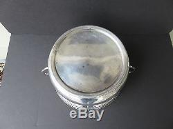 15 Pcs. Antique c. 1900 Art Nouveau Orivit Silverplate Etched Glass Punch Bowl Set