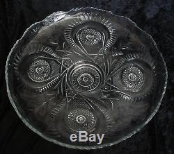 15 piece EAPG punch bowl set Smith Glass Pinwheel & Stars