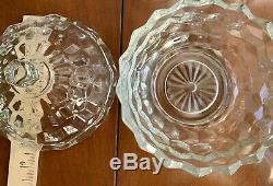17pc Fostoria AMERICAN Glass PUNCH BOWL Plate Dish Ladle Jar Candy Lot Cups