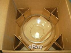 17pc. Riekes Crisa Moderno #7050 Handblown Glass Punch Bowl Set Vintage L2735