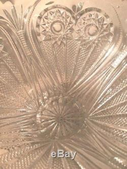 1920 ABPG Imperial Footed Zippered Heart Punch Bowl with matching 8 Flower Vase