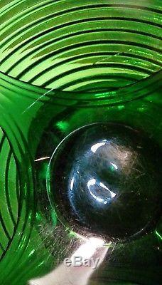 1930's Cambridge Emerald Punch Bowl Tally Ho Pattern