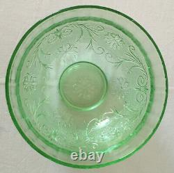 26-piece Tiara SANDWICH punch bowl set in Chantilly Green Indiana Glass