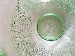26-piece Tiara SANDWICH punch bowl set in Chantilly Green Indiana Glass