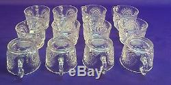 27 pc L E Smith Punch Bowl Set-Slewed Horseshoe, Pinwheel Star-Bowl, Tray, Cups, Ldl