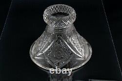 ABP American Brilliant Period Cut Glass 2 Part Heavy PUNCH BOWL & SILVER LADLE
