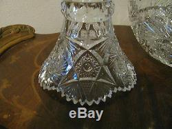ABP Early 1900's Cut Glass Eggnog or Punch Bowl 8 3/4 t x 8 3/4 w SALE
