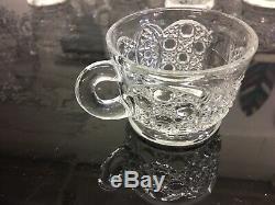 AMAZING! Gorgeous Vintage 20Piece L. E SMITH GLASS DAISY & BUTTON PUNCH BOWL SET