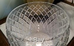 ANTIQUE WATERFORD Pineapple Cut Crystal Punch Bowl WithLid 13H, EXCELLENT