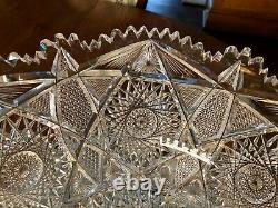 Abp American Brilliant Argo Punch Bowl Empire Cut Glass