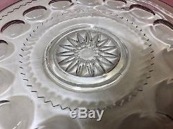 Amazing Giant FENTON Punch Bowl Set with 6 Matching Cups, Bowl, and Plate RARE