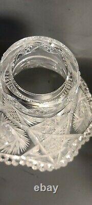 American Brilliant Cut Glass 2 Part Punch Bowl Set