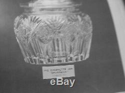 American Brilliant Cut Glass 2 Part Punch Bowl Signed Hawkes In Brunswick