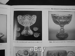 American Brilliant Cut Glass Fry 2 Part Punch Bowl With Set 6 Matching Cups