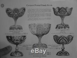 American Brilliant Cut Glass J. Hoare Newport Pattern 12 1/2 Punch Bowl