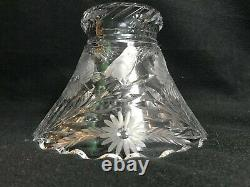 American Brilliant Cut Glass-L. Straus-Songbird withFlowers Punch Bowl & Ladle