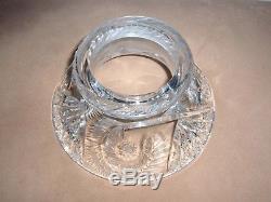 American Brilliant Cut Glass Punch Bowl Fernhurst Pattern by Clark