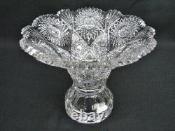 American Brilliant Cut Glass Punchbowl By T. B. Clark 1908 Alpenglow Pattern
