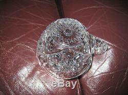 American Victorian Cut Crystal Large Punch Bowl with 8 cups 16 1/4
