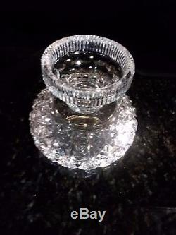 American brilliant period cut glass footed 10 punch bowl