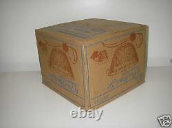Anchor Hocking ARLINGTON 18 pc Punch SET Bowl Scalloped Rim Cup Ladle Hooks Box