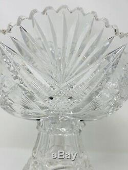 Anerican Brilliant Cut Glass Punch Bowl