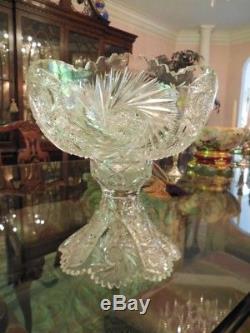 Antique American Brilliant Cut Glass Eggnog or Punch Bowl
