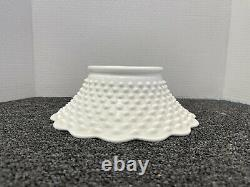 Antique Fenton White Milk Glass Hobnail Punchbowl 12 Cups Pedestal Bowl Wedding
