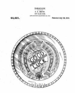 Antique KUPFER Cut Glass ABP Brilliant GOOD LUCK Pattern 12 Punch Bowl c. 1913