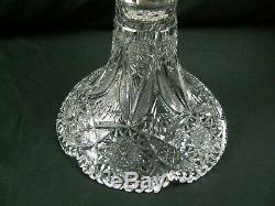Antique Magnificent American Brilliant Cut Glass 19.5 Tulip Shape Punch Bowl