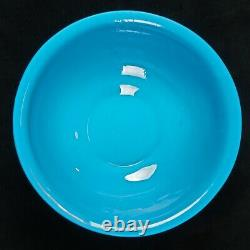 Antique Republic Chinese Large Turquoise Peking Glass Punch Bowl early 20th C