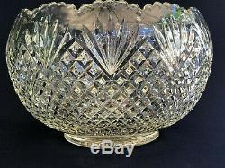 Antique U. S. Glass Co. Clear pressed glass punch bowl, PINEAPPLE AND FAN, c. 1895