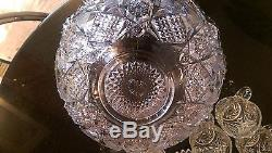 Awesome Antique Punch bowl on Rasied Base
