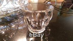 Beautiful Antique 12 Cup Punch Bowl on Matching Platter with Glass Ladle