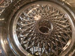 Beautiful Huge Antique 20 Cup Punch Bowl on Matching Platter
