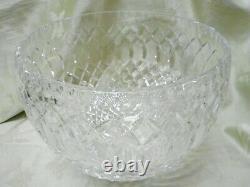 Beautiful Vintage Large Crystal Punch Bowl Webb or Waterford