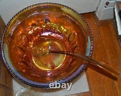 Beautiful vintage indiana glass 26pc. Princess carnival punch bowl set