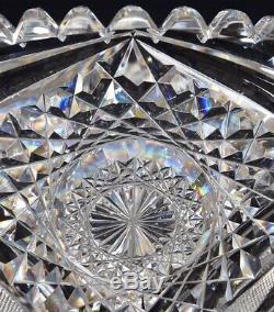 Best Heavy Antique Abp 15 Signed Eggington Marquis Pattern Cut Glass Punch Bowl