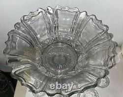 Best Vintage Heisey Punch Bowl Set with Stand and 14 Cups Glasses