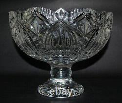 Big Waterford Crystal Pedestal Compote/ Punch Bowl