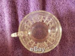 Brilliant Antique Cut Glass Crystal Large Punch Bowl with 18 Cups Set