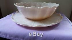 Cambridge Crown Tuscan 14 Inch Shell Platter And Large Matching Bowl, Punch Bowl