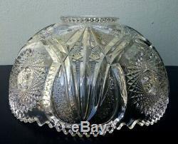 Cambridge Marjorie Antique Eapg Glass Punch Bowl