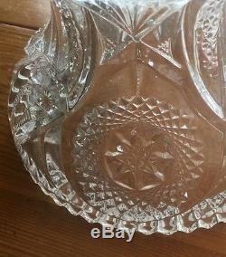 Cambridge Marjorie Punch Bowl with Base and 6 Punch Cups. Vintage 1940's