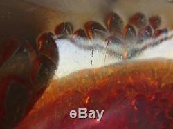 Carnival Glass Fenton ORANGE TREE Marigold Flared Punch Bowl with Base 4352