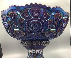 Carnival Spectacular Electric Purple Broken Archs Punch Bowl & Base