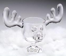 Christmas Moose Mug Punch Bowl Set with 6 Moose Mugs Safer Than Glass