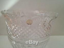Crystal Clear Industries 24% Lead Crystal Large Round Punch Bowl Made in Poland