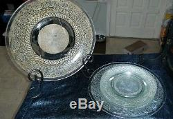 Crystal Vintage 15 pcs Punch Bowl/ dessert Set Large VERY HEAVY Cut Crystal